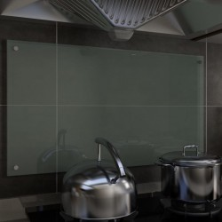 stradeXL Panel ochronny do kuchni, biały, 90x50 cm, szkło hartowane