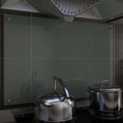 stradeXL Panel ochronny do kuchni, biały, 90x60 cm, szkło hartowane