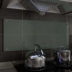 stradeXL Kitchen Backsplash White 100x40 cm Tempered Glass