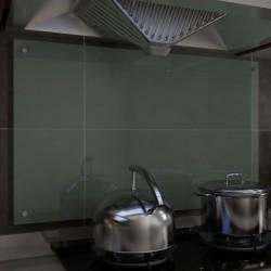 stradeXL Panel ochronny do kuchni, biały, 100x60 cm, szkło hartowane