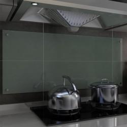 stradeXL Panel ochronny do kuchni, biały, 120x50 cm, hartowane szkło