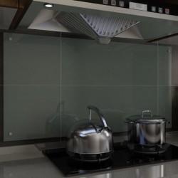 stradeXL Panel ochronny do kuchni, biały, 120x60 cm, szkło hartowane
