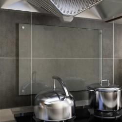 stradeXL Kitchen Backsplash Transparent 70x50 cm Tempered Glass