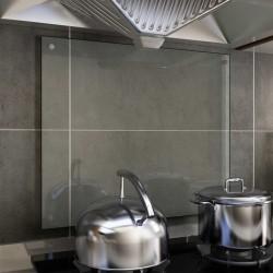 stradeXL Kitchen Backsplash Transparent 70x60 cm Tempered Glass