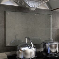 stradeXL Kitchen Backsplash Transparent 80x50 cm Tempered Glass