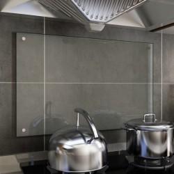 stradeXL Panel ochronny do kuchni, przezroczysty, 80x50 cm, szkło