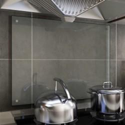 stradeXL Panel ochronny do kuchni, przezroczysty, 80x60 cm, szkło