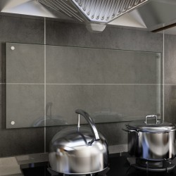 stradeXL Kitchen Backsplash Transparent 90x40 cm Tempered Glass