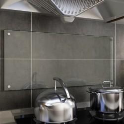 stradeXL Panel ochronny do kuchni, przezroczysty, 90x40 cm, szkło