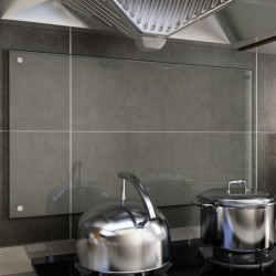 stradeXL Kitchen Backsplash Transparent 90x50 cm Tempered Glass