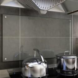stradeXL Panel ochronny do kuchni, przezroczysty, 90x50 cm, szkło