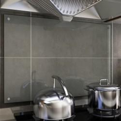 stradeXL Panel ochronny do kuchni, przezroczysty, 90x60 cm, szkło