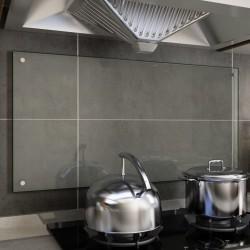 stradeXL Panel ochronny do kuchni, przezroczysty, 100x50 cm, szkło