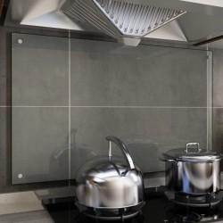 stradeXL Kitchen Backsplash Transparent 100x60 cm Tempered Glass