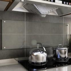 stradeXL Panel ochronny do kuchni, przezroczysty, 120x40 cm, szkło