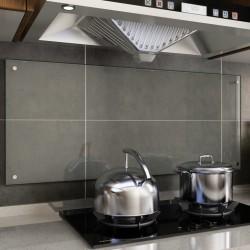 stradeXL Panel ochronny do kuchni, przezroczysty, 120x50 cm, szkło