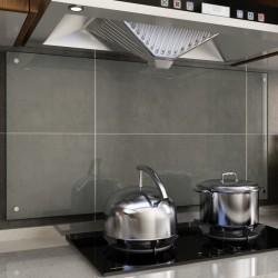 stradeXL Kitchen Backsplash Transparent 120x60 cm Tempered Glass