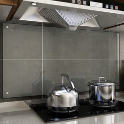 stradeXL Panel ochronny do kuchni, przezroczysty, 120x60 cm, szkło