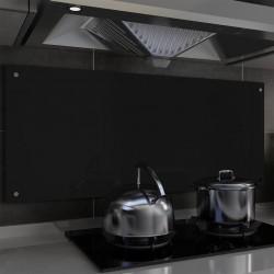 stradeXL Panel ochronny do kuchni, czarny, 120x50 cm, hartowane szkło