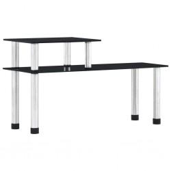 stradeXL Kitchen Shelf Black 45x16x26 cm Tempered Glass