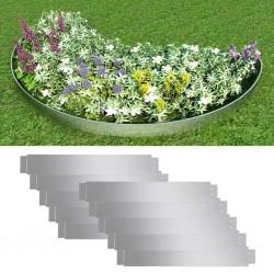 stradeXL Zestaw 10 elastycznych obrzeży ogrodowych, stal, 100 x 15 cm