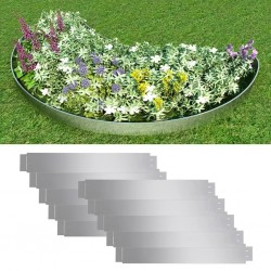 stradeXL Zestaw 10 elastycznych obrzeży ogrodowych, stal, 100 x 14 cm