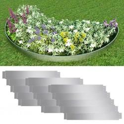 stradeXL Zestaw 15 elastycznych obrzeży ogrodowych, stal, 100 x 15 cm