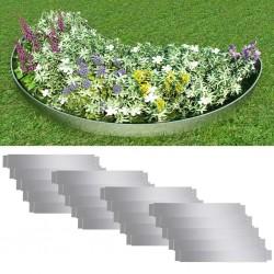 stradeXL Zestaw 20 elastycznych obrzeży ogrodowych, stalowych, 100x14 cm