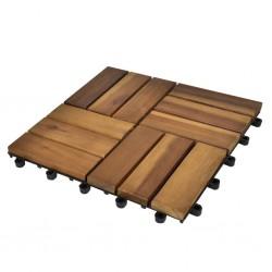 Płytki tarasowe 30 x 30 cm z drewna akacji 30 w zestawie