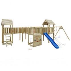 stradeXL Plac zabaw dla dzieci z drabinką, zjeżdżalnią i huśtawkami
