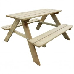 stradeXL Stół piknikowy dla dzieci 89 x 89,6 x 50,8 cm