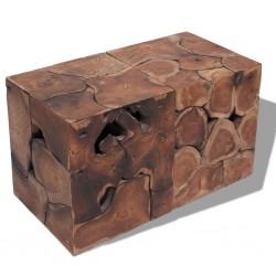 stradeXL Taborety / Stolik kawowy z solidnego drewna tekowego