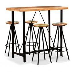 stradeXL Zestaw mebli barowych, drewno akacjowe i odzyskane, 5 elementów