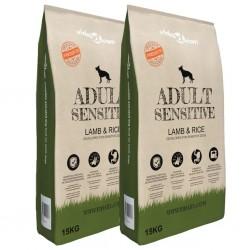 stradeXL Sucha karma dla psów Adult Sensitive Lamb & Rice, 2 szt., 30 kg