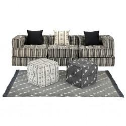 stradeXL Sofa modułowa z akcesoriami, 12 elementów, tkanina w paski