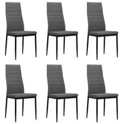 stradeXL Krzesła stołowe, 6 szt., jasnoszare, tkanina