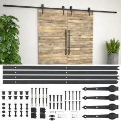 stradeXL System do mocowania drzwi przesuwnych, 2 x 183 cm, stal, czarny