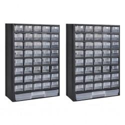 stradeXL Szafki na narzędzia z 41 szufladami, 2 szt., plastik