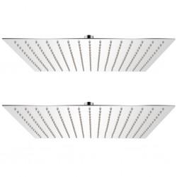 stradeXL Deszczownice ze stali nierdzewnej, 2 szt., 40 x 40 cm