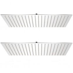 stradeXL Deszczownice ze stali nierdzewnej, 2 szt., 30 x 50 cm