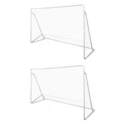stradeXL Bramki do piłki nożnej, 2 szt., 240x90x150 cm