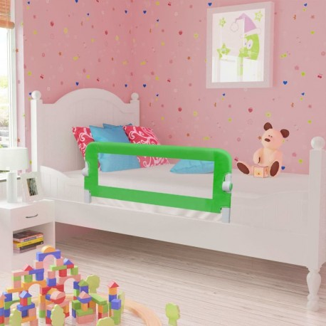 stradeXL Barierki do łóżeczka dziecięcego, 2 szt., zielone, 102x42 cm
