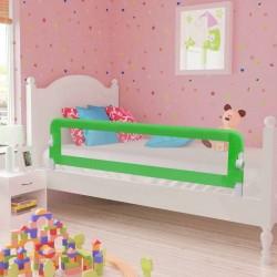 stradeXL Barierki do łóżeczka dziecięcego, 2 szt., zielone, 150x42 cm