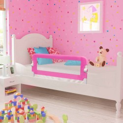 stradeXL Toddler Safety Bed Rail 2 pcs Pink 102x42 cm