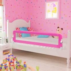 stradeXL Barierki do łóżeczka dziecięcego, 2 szt., różowe, 150x42 cm