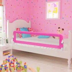 stradeXL Toddler Safety Bed Rail 2 pcs Pink 150x42 cm