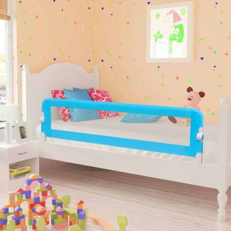 stradeXL Barierki do łóżeczka dziecięcego, 2 szt., niebieskie, 150x42 cm