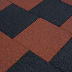 stradeXL Gumowe płyty, 12 szt., 50 x 50 x 3 cm, czerwone