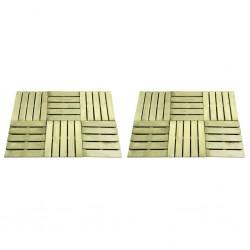 stradeXL Płytki tarasowe, 12 szt., 50 x 50 cm, drewno, zielone