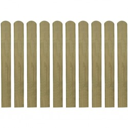 stradeXL 20 impregnowanych sztachet drewnianych, 80 cm